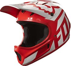Fox Head Rampage Adult Full Face Bike Helmet (Race Red/White, L)  SAFETY - The combination of the fiberglass shell and EPS interior make the Rampage Helmet incredibly durable, able to take the full brunt of an impact without transferring it to you. The larger eye-opening also allows you to wear goggles, to better protect against debris and dirt.  COMFORT - 11 well placed vents allow for greater airflow to keep you cool and dry, all ride long. Soft cheek pads, a comfort inner lining and...