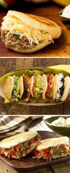 Como hacer Arepas Venezolanas - Even Tutorial and Ideas Fun Easy Recipes, Easy Meals, Healthy Recipes, Venezuelan Food, Colombian Food, Empanadas, Mexican Food Recipes, Ethnic Recipes, Comida Latina
