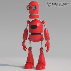 3d Red Robot  Red Robot By Vertexhouse