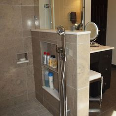 Shower Storage Design, Pictures, Remodel, Decor and Ideas