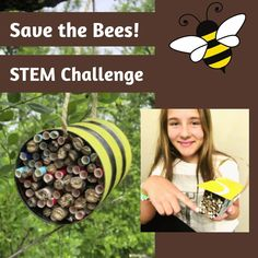 🐝 Save the bees with this pollinator hotel STEM challenge! Design and build a pollinator hotel to provide shelter and a place for bees to lay eggs. Fun Math Activities, Math Games For Kids, Hands On Activities, Stem Learning, Learning Resources, Types Of Bees, Science Topics, Stem Challenges, Save The Bees