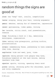 Maybe the one about homework but I don't really think the other two are true sternzeichen verseau vierge zodiaque Zodiac Funny, Zodiac Posts, Zodiac Memes, Zodiac Horoscope, Libra, Zodiac Quotes, Aquarius, Scorpio Sign, Zodiac Sign Traits