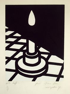 Patrick Caulfield, Candle Graphic Design Illustration, Graphic Art, Illustration Art, Pop Art, Art Design, Book Design, David Hockney, Classic Paintings, A Level Art