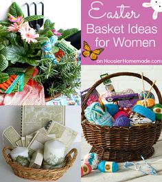 Easter Basket Ideas for Women on HoosierHomemade.com