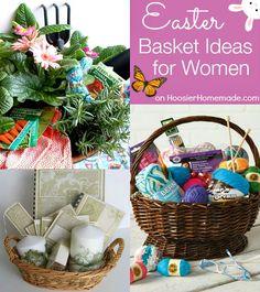 Easter Basket Ideas for Women on HoosierHomemade.com