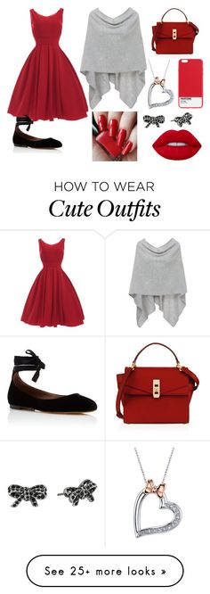 """Cute All Red Outfit"" by futurefashiondesighner-938 on Polyvore featuring Minnie Rose, Tabitha Simmons, Henri Bendel, Case Scenario, Marc Jacobs, Disney and Lime Crime"