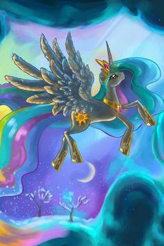 Celestia flying O_O Princesa Celestia, Celestia And Luna, Mlp, Fluttershy, My Little Pony 1, My Little Pony Friendship, My Little Pony Collection, Nightmare Moon, Imagenes My Little Pony