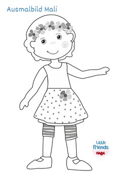 Little Friends - Ausmalbild Mali