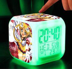 Sailor moon Mercury  Mars Jupiter Venus Tuxedo Luna Artemis action figure  alarm clocks Japanese  Anima toys