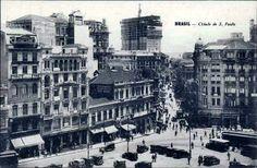 Década de 20 - Região central da cidade, região da Sé (cartão postal).