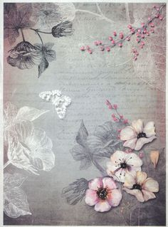 Rice Paper for Decoupage Decopatch Scrapbook Craft Sheet Vintage Pink Garden