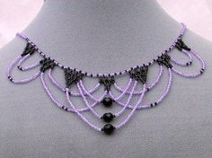 Lace Beadwoven Necklace (Style A)