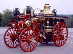 Horse Drawn Steamer Engine. ... =====>Information=====> https://www.pinterest.com/joemcdonagh16/antique-fire-pumpers/