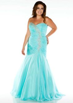 2015 Sweetheart Blue Crystals Lace Up Sleeveless Fuchsia Mermaid Homecoming / Plus Size Dresses Fabulouss 64503