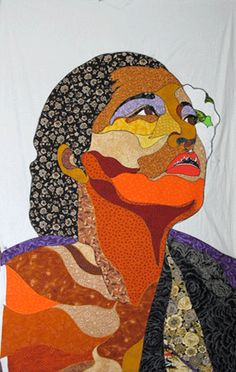 Billie Holiday quilt, would also be a cool idea for silk painting..
