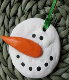 How to make a salt dough snowman ornament.