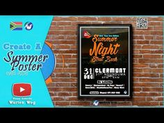 How to Create A Street Bash Poster For An Event in Photoshop Summer Nights, Photoshop, Make It Yourself, Create, Flyers, Youtube, Poster, Pictures, Street