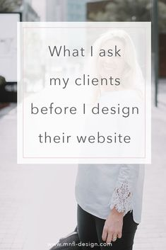 The exact website design questions I ask my clients — Emilia Ohrtmann Design - I want to share with you the exact questions I ask my clients before we start designing their websi - Design Websites, Web Design Tips, Web Design Tutorials, Web Design Company, Flat Design, Decorating Websites, Website Design Inspiration, Best Website Design, Website Design Services