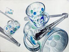 컵 집게-반사체 Bottle Drawing, Drawing Techniques, Surrealism, Perfume Bottles, Drawings, Design, Google, Crystals, Art