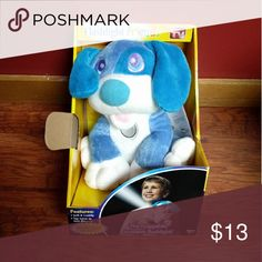 """Brand New Puppy Flishlight Friends @ Soft, cuddly plush with built-in flashlight?perfect for banishing fears of the dark!  @ Features 10-minute auto-shutoff to conserve battery life  @ Requires 3 AAA batteries  @ Ages 4 +   @ Measures 8.5"""" tall Other"""
