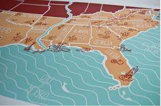 Map art.