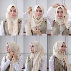 New Fashion Hijab Style Simple Muslim Ideas Source by thesnytmohamme. New Fashion Hijab Style Simple Muslim Ideas Source by thesnytmohammed fashion Square Hijab Tutorial, Simple Hijab Tutorial, Pashmina Hijab Tutorial, Hijab Style Tutorial, Hijab Chic, Stylish Hijab, Casual Hijab Outfit, Ootd Hijab, Stylish Outfits