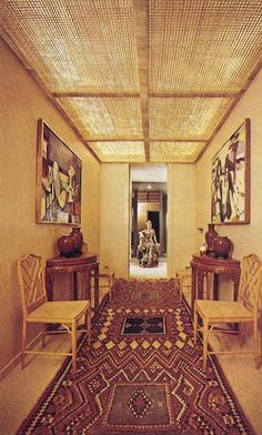 Valentino's NY Apartment. THE NYT BOOK OF INTERIOR DESIGN AND DECORATION ©1976