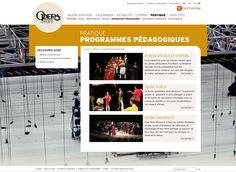 Création du site internet de l'Opéra national de Paris. #Minitl  www.minit-l.com