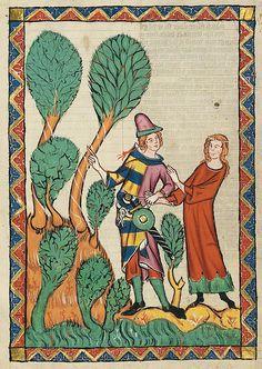 Manesse Codex, f. 395r stripes