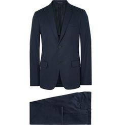 Minimalism and precision tailoring are Jil Sander's sartorial calling cards, and this streamlined navy suit will have you looking smart and stylish at any occasion. It's cut in a flattering slim fit and crafted from smooth cotton - the breathable fabric is designed to feel cool even in heated situations.