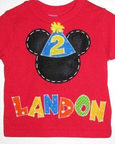 LOVE!!!! Mickey Mouse shirt, birthday boy, custom toddler tshirt.. $25.50, via Etsy.