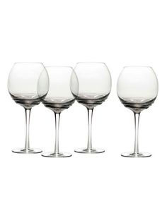 Brands | Glassware & Bar | Swirl Smoke Balloon Glass Set of 4 | Hudson's Bay