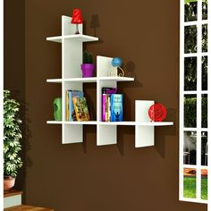 Metro Lane This is a creative accent shelf system for every room in the house. Cube Shelves, Floating Wall Shelves, Display Shelves, Wall Shelf Decor, Diy Wall Decor, Room Decor, Bookshelf Design, Wall Shelves Design, Home Decor Furniture