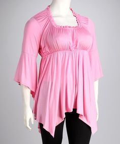 Another great find on #zulily! Pink Empire-Waist Top - Plus by Just Miss #zulilyfinds