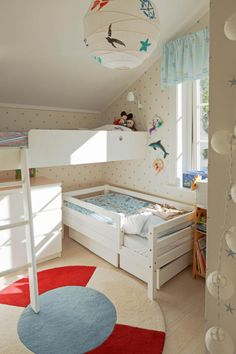 Platzsparendes Kinderzimmer für 2 Kinder
