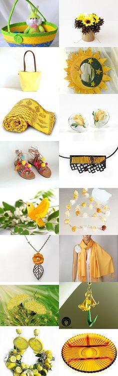 05.06.2015 by Pingos do Céu on Etsy-- #etsy #treasury #green #yellow #basket #bowl #moon #gold #Easter #basket #daisy  Pinned with TreasuryPin.com