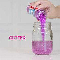 Glitter jars: How to