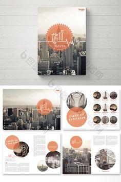 Geometric minimalism retro travel pictures #design #templates #brochure