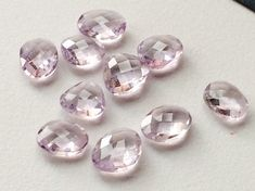 Pink Amethyst Cabochons Pink Amethyst Rose Cut by gemsforjewels