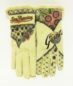 Hand Painted Isotoner gloves by Dianna Wood www.thewoodssecretgarden.etsy.com