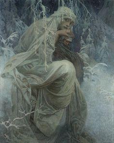 A Winter Tale by Alphonse Mucha, 1917