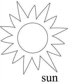 free printable sun cut out templates  scrapbooking  sun