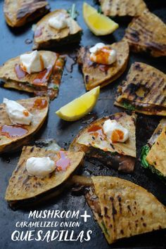 Mushroom & Caramelized Onion Quesadillas FoodBlogs.com