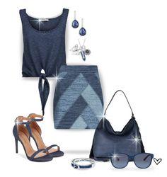 """~Blue Denim~ Patchwork Mini Skirt ~"" by justwanderingon ❤ liked on Polyvore featuring Alice + Olivia, BCBGMAXAZRIA, Diane Von Furstenberg, Ippolita, Ralph Lauren, MINISKIRT, officewear, patchwork and fortheoffice"