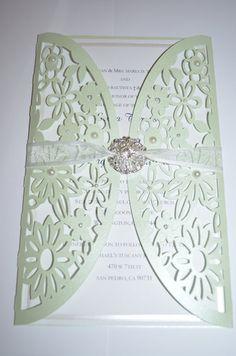 Laser Cut Invitation, Flower Invitation, Handmade Invitations, Sweet Sweet, Sweet Sixteen, Cut Flowers, Handmade Flowers, Laser Cutting, Weddings