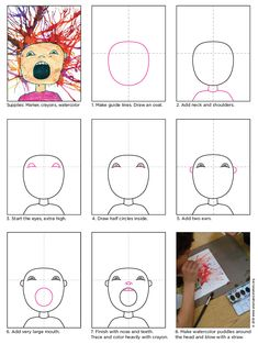 Scream Blow Art Project · Art Projects for Kids - therezepte sites Art Projects For Adults, Toddler Art Projects, Teen Art Projects, Project Projects, Art Education Lessons, Art Lessons Elementary, Painting For Kids, Art For Kids, Scream Art