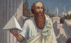 Pythagoras (circa 570-495BC)  Vegetarian mystical leader and number-obsessive, he owes his standing as the most famous name in maths due to a theorem about right-angled triangles, although it now appears it probably predated him. He lived in a community where numbers were venerated as much for their spiritual qualities as for their mathematical ones. His elevation of numbers as the essence of the world made him the towering primogenitor of Greek mathematics.