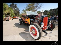 Old-school Hot/Rat Rod at the 1/8 Mile Race in Bottrop/Germany 2006 - like in…