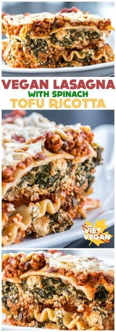 Vegan Lasagna with Spinach Tofu Ricotta - The Viet Vegan