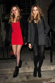 Georgia May Jagger - Kate Moss ands Jamie Hince at London Fashion Week